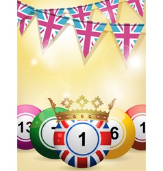 Lottery bingo background vector