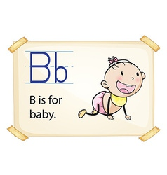 A letter B for baby vector image vector image