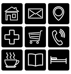A set of stencils for map icons vector