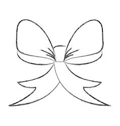 bow ribbon decorative icon vector image vector image
