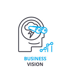 business vision concept outline icon linear vector image vector image