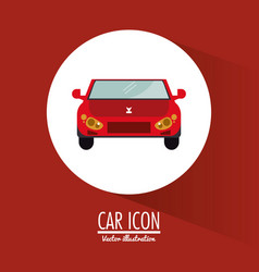 car vehicle transportation design vector image vector image