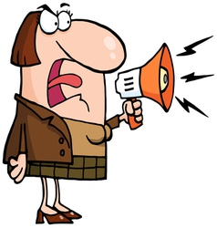 caucasian businesswoman shouting bossy vector image vector image