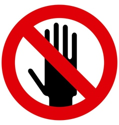 Do not touch sign vector image vector image