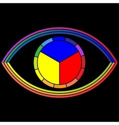 eye color wheel vector image