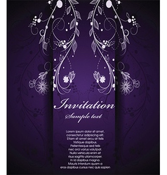Floral and decorative document template vector