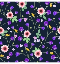 floral seamless Hand drawn vector image vector image