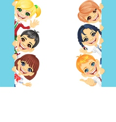 Happy smile kids and banner vector image vector image