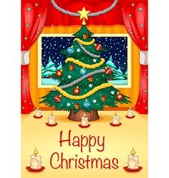 Hapy christmas card vector