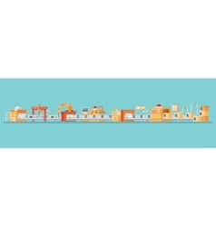 horizontal of conveyor for assembly vector image vector image