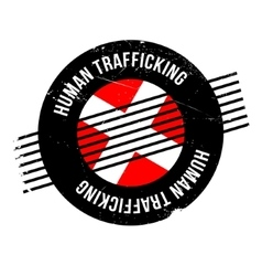 Human trafficking rubber stamp vector