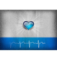 medical cardio heart grey blue vector image vector image