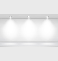 photo studio room empty white interior gallery vector image