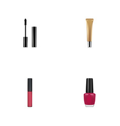 Realistic varnish collagen tube liquid lipstick vector