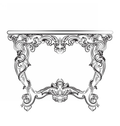Royal Baroque Classic table furniture vector image
