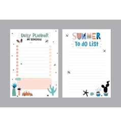 Scandinavian Weekly and Daily Planner vector image vector image