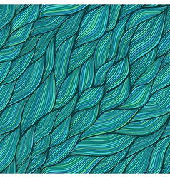 Seamless abstract hand-drawn pattern waves vector