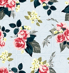 Seamless floral pattern with ornament vector image vector image