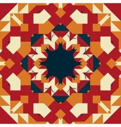 Seamless round frame mandala-like design vector image vector image