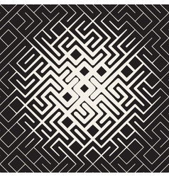 Seamless rounded line maze irregular vector