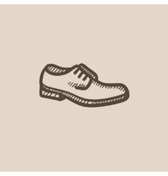 Shoe with shoelaces sketch icon vector
