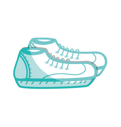 silhouette comfortable sneakers fitness vector image