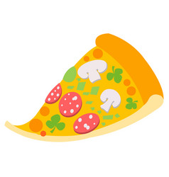 slice of pizza logo seeker pizza fast food and vector image vector image