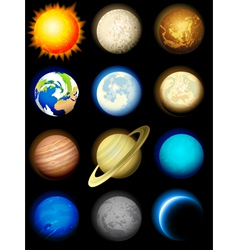 solar system planets vector image vector image