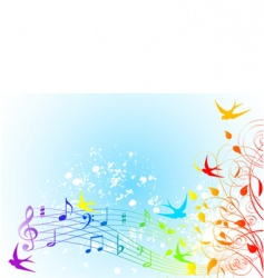 spring song vector image