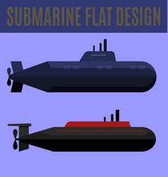 Submarine flat design vector