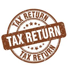 Tax return stamp vector