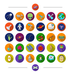 universe heavenly body and other web icon in vector image