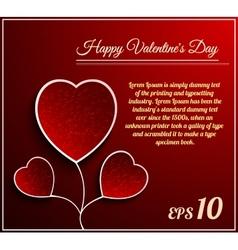 Valentine day flower heart vector image