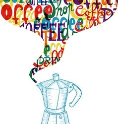 vintage coffee icon social concept vector image vector image