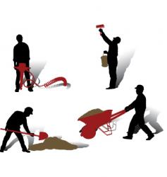 workers collection vector image vector image
