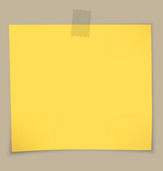 Sticky notes and tape vector