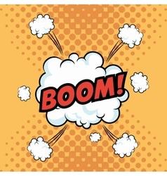 Boom explosion pop art comic design vector