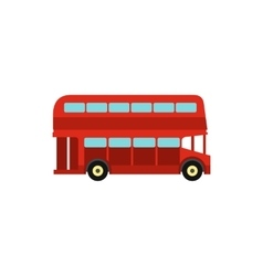 Double decker bus icon flat style vector