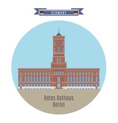 Rotes Rathaus Berlin vector image