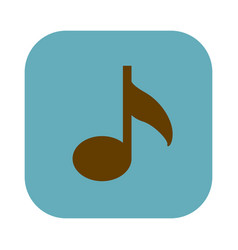 Color square with musical note icon vector