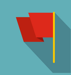 red flag icon flat style vector image