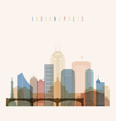 indianapolis state indiana skyline vector image