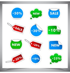 Collection of selling badges and stickers vector