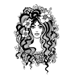 Artistic black and white vector