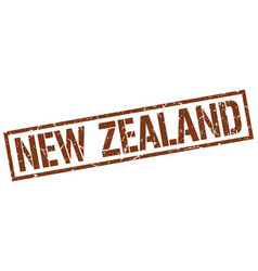 New zealand brown square stamp vector