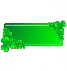 clover banner vector image