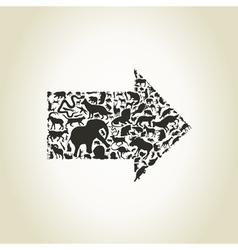 Animal arrow2 vector image