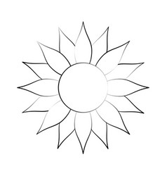 Cartoon radiant summer sun vector