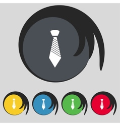 Tie sign icon business clothes symbol set vector