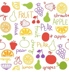 Hand drawn fruit seamless pattern vector image